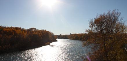 Sun over Bow River