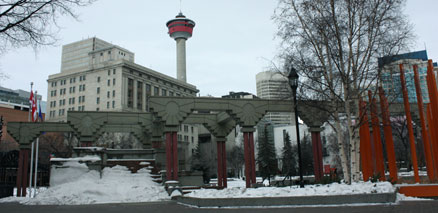 Olympic Plaza and Calgary Tower