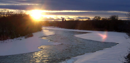 Sunset over Bow River