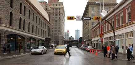 Calgary City Street Walking