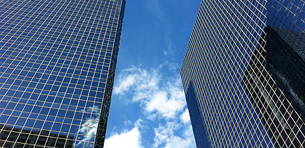 Glass Buildings with Sky